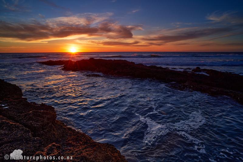 Sun set at O'Neill's Bay